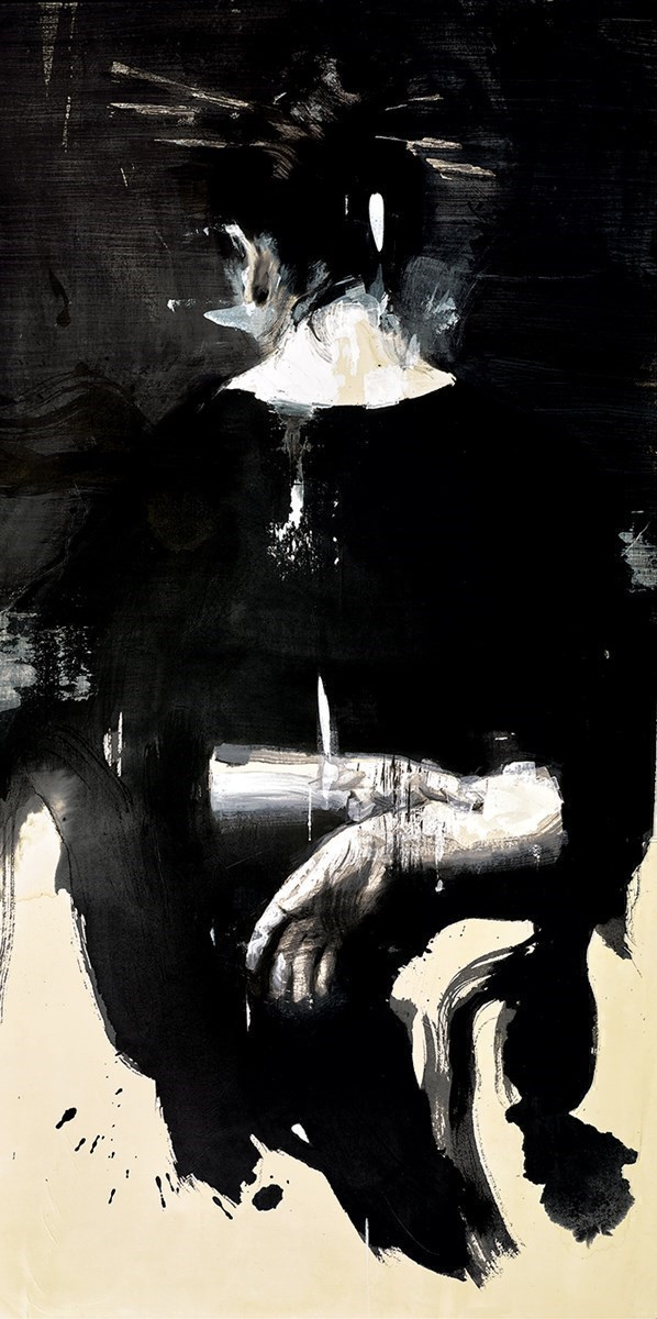 Kimono Negro III  by Christian Hook - Paper Edition sized 16x32 inches. Available from Whitewall Galleries